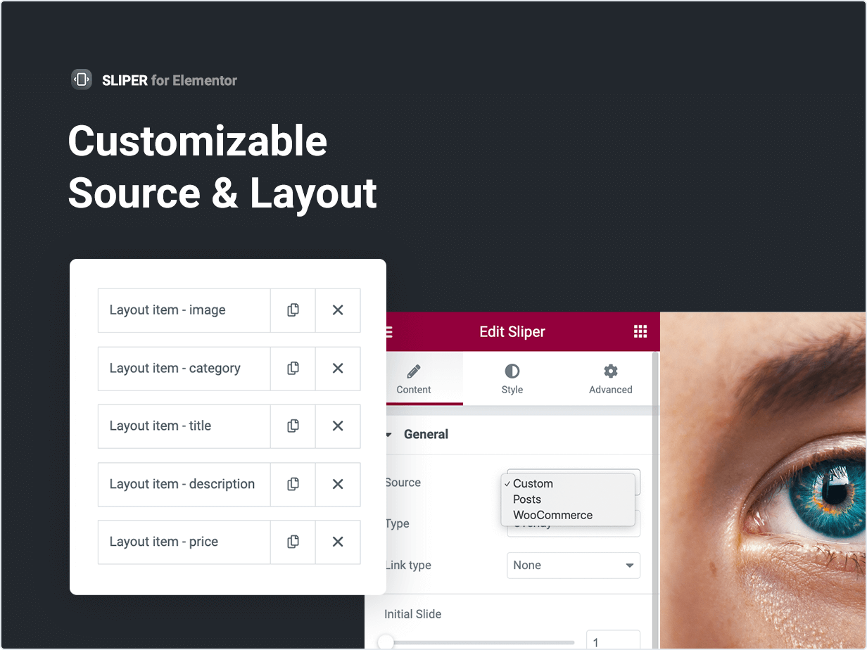 Customizable Source and Layout