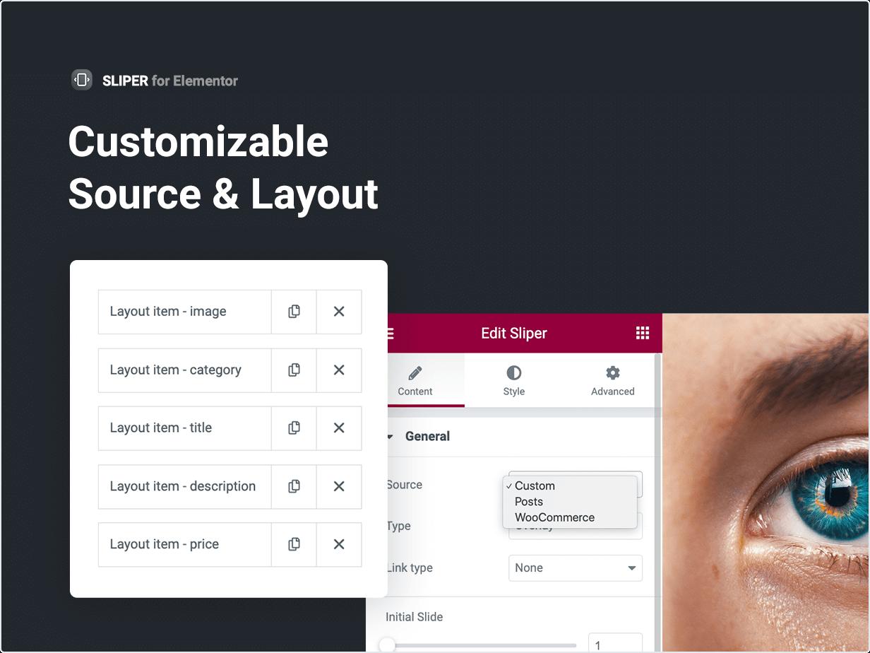 Fonte e layout personalizáveis