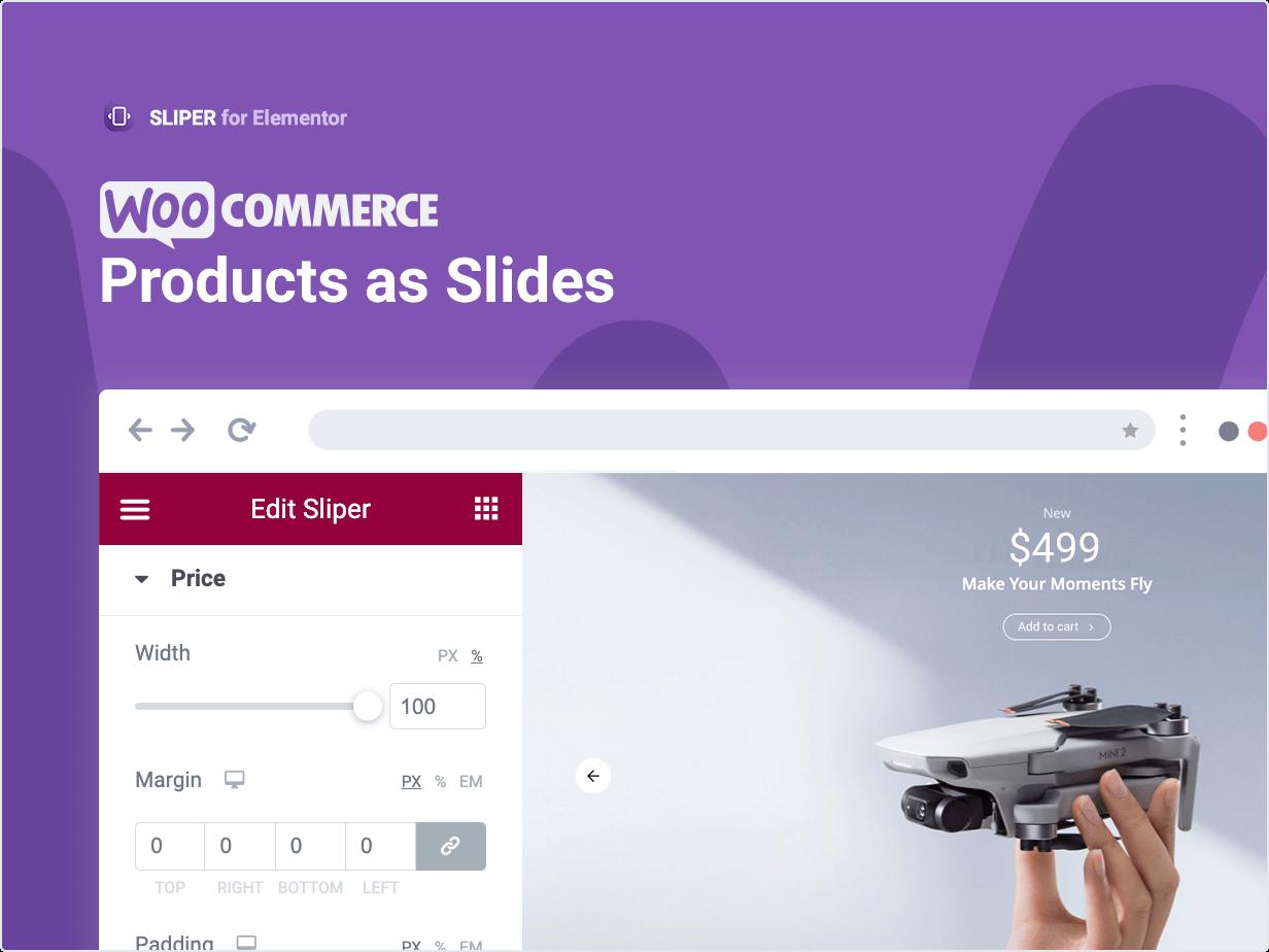 Produtos WooCommerce como slides