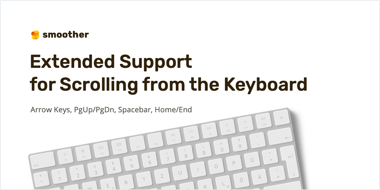 Extended support for scrolling from the keyboard