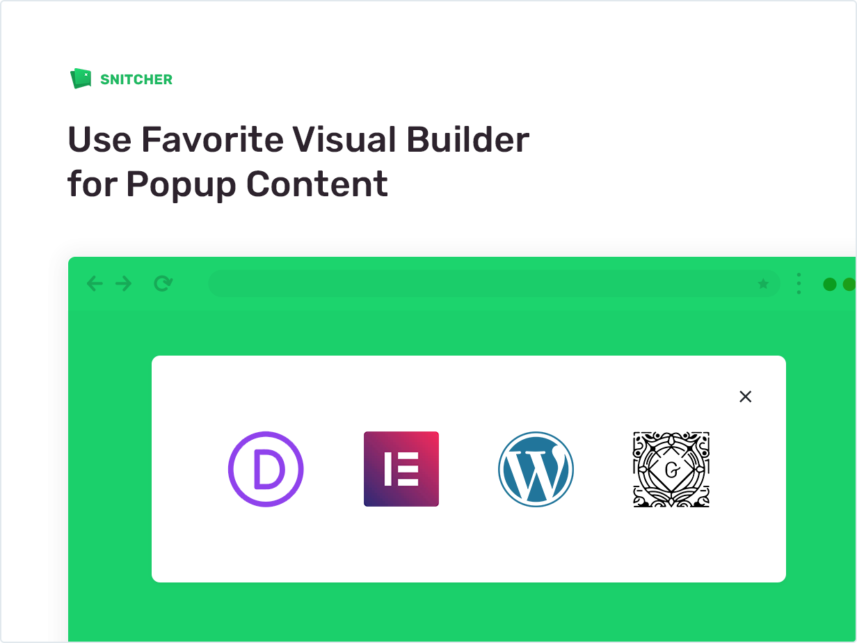 Use Favorite Visual Builder for Popup Content