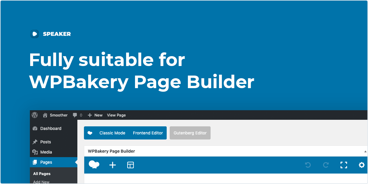 Page to Speech Plugin is Fully compatible width WPBakery Page Builder