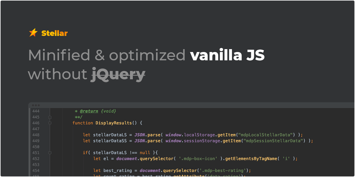 Minified and optimized vanilla JS without jQuery