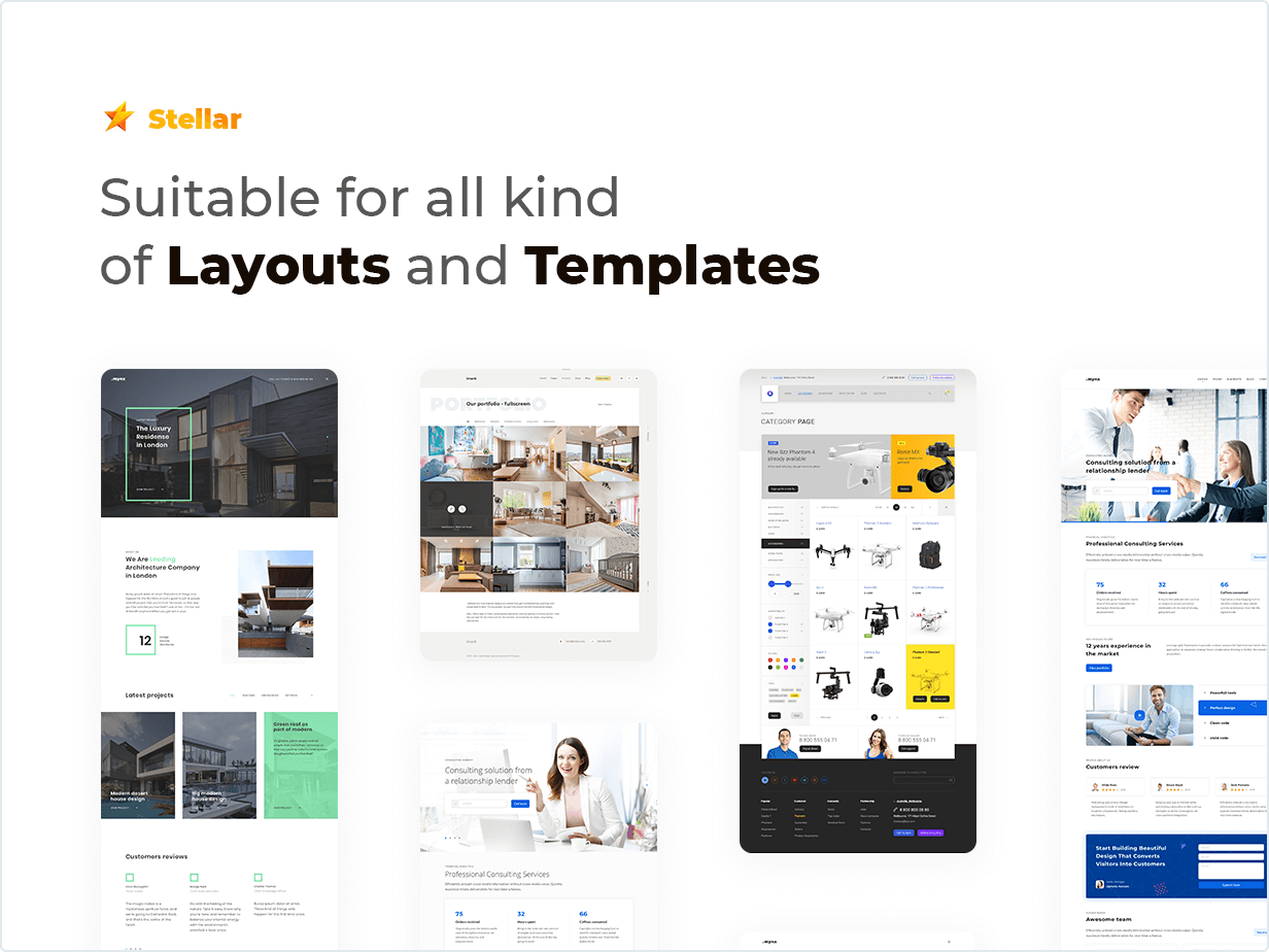 Stellar Rating WordPress plugin suitable for all kind of Layouts and Templates