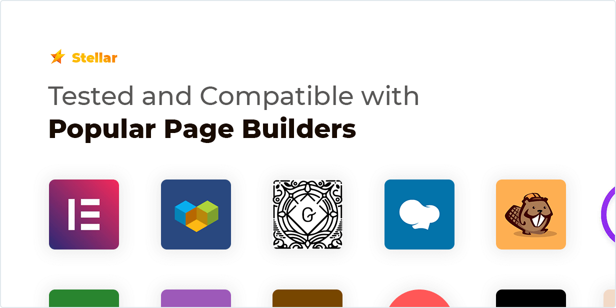 Stellar Rating WordPress plugin are tested and Compatible with Popular Page Builders