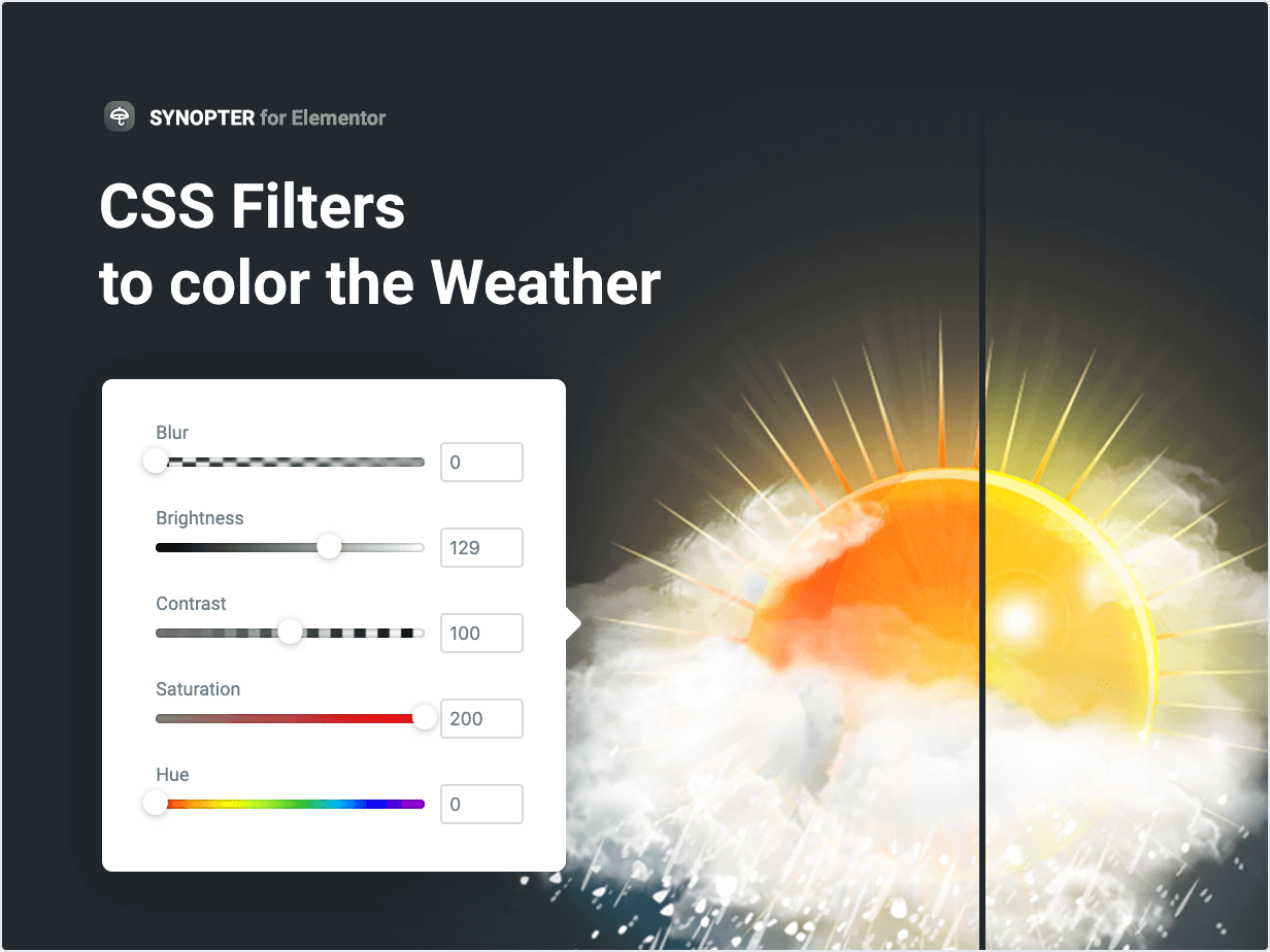 CSS Filters to color the Weather
