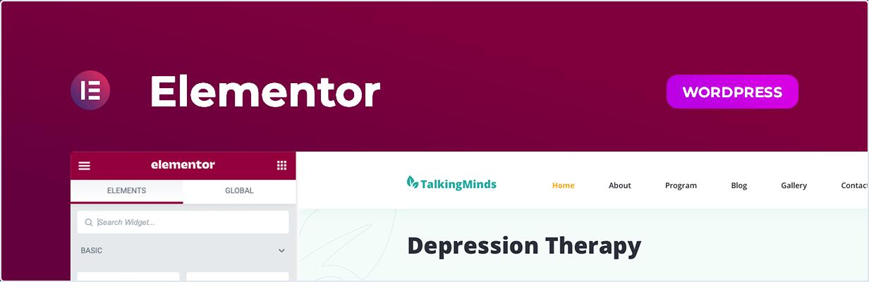 Talking Minds – Psychotherapist Elementor Template Kit