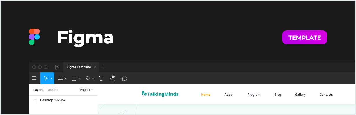 Talking Minds – Psychotherapist Template for Figma