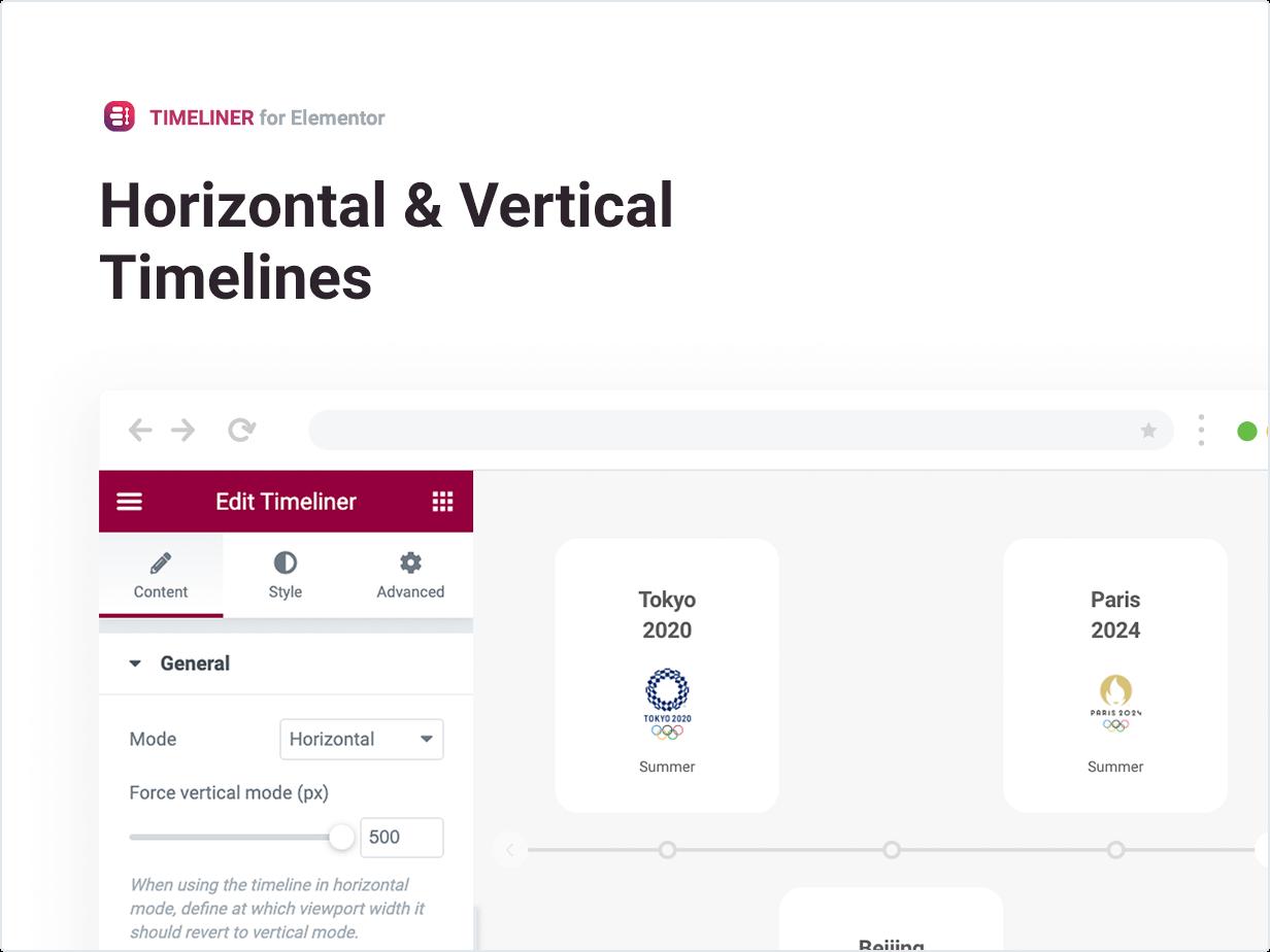 Horizontal & Vertical Timelines