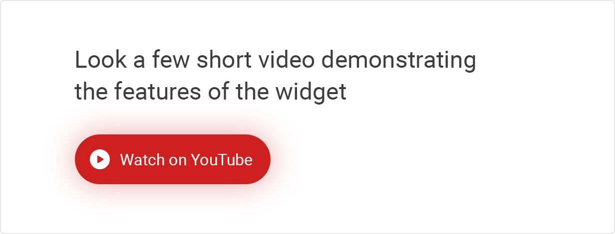 Tube widget video demo