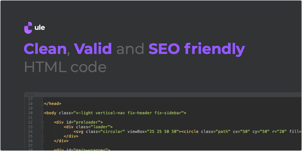 Clean, Valid and SEO friendly HTML code
