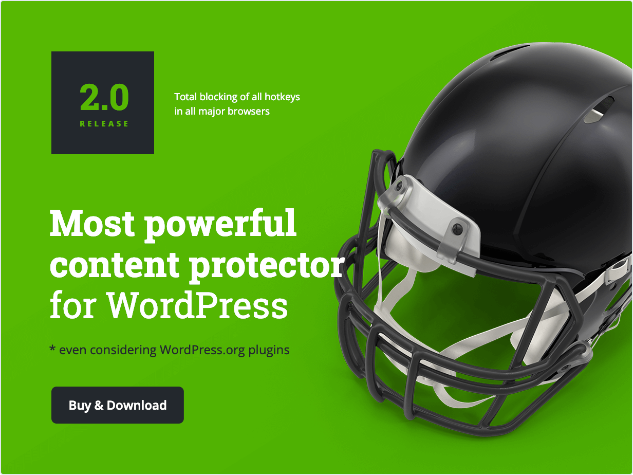 Most powerful content protector for WordPress