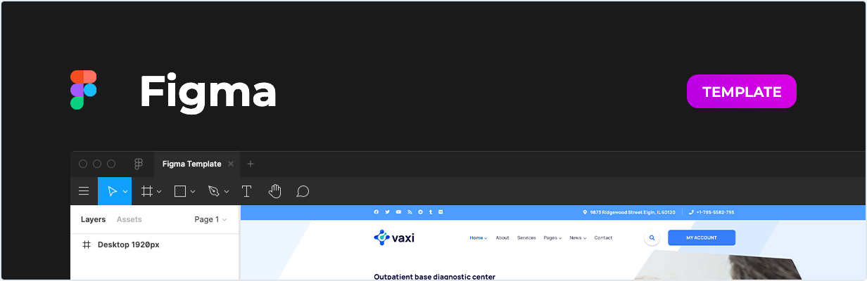 Vaxi – COVID Vaccination Template for Figma