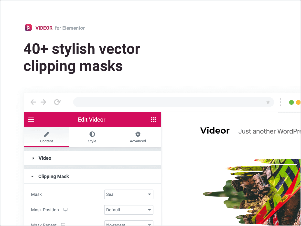 40+ stylish vector clipping masks