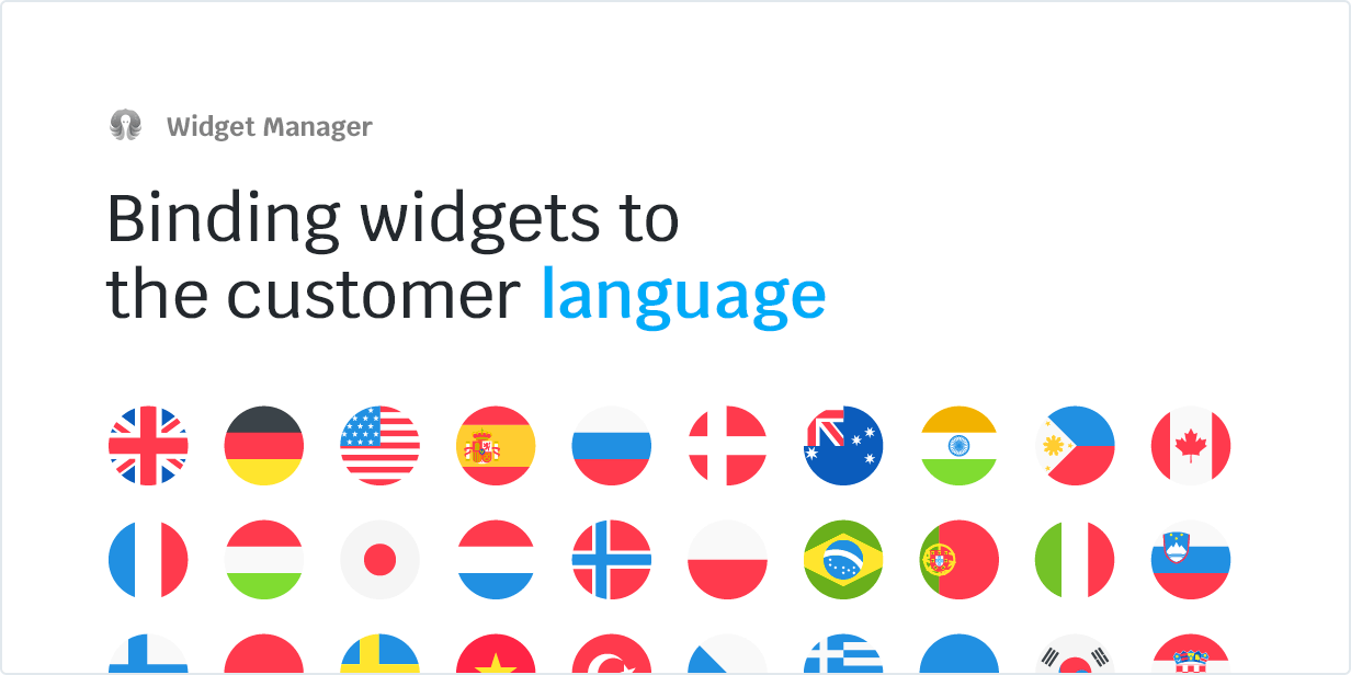 Binding widgets to the customer language