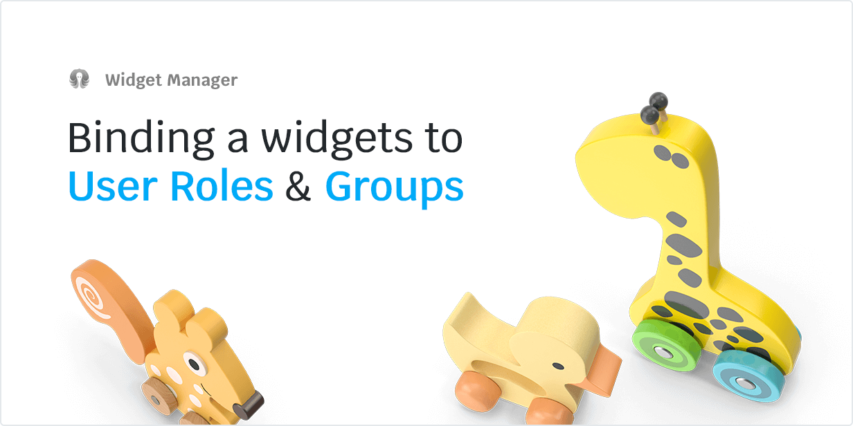 Binding a widget to User Roles & Groups