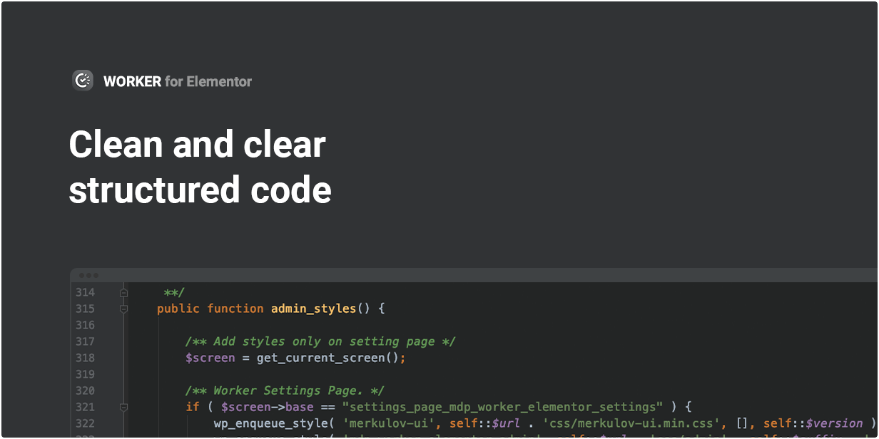 Clean and clear structured code