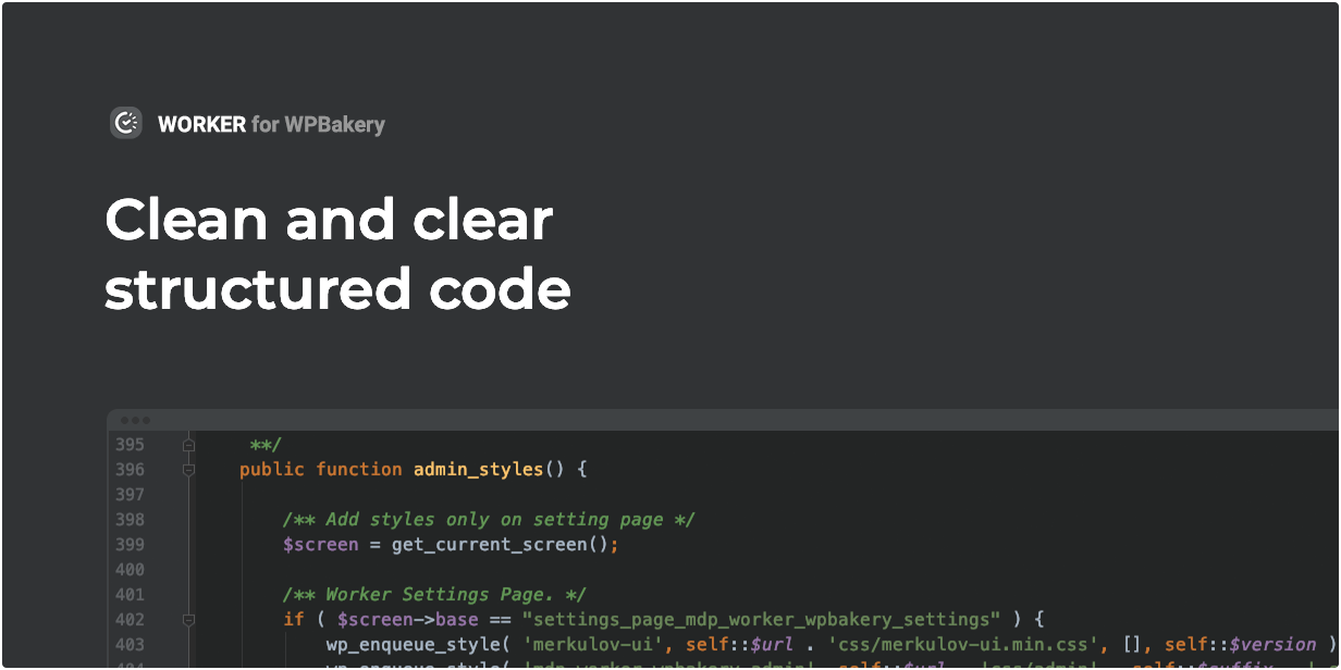 Worker widget has clean and clear structured code