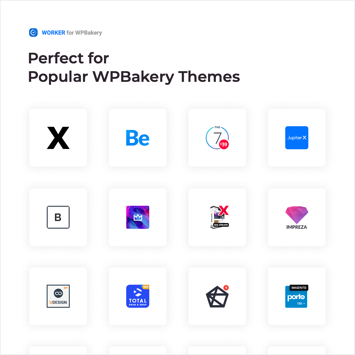 Worker widget - Perfect for Popular WPBakery Themes