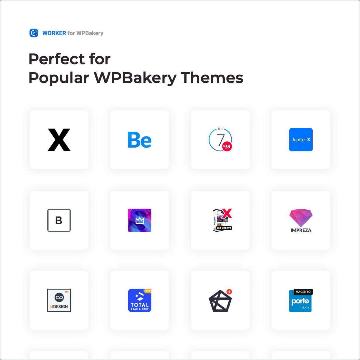 Widget de trabajador: perfecto para temas populares de WPBakery