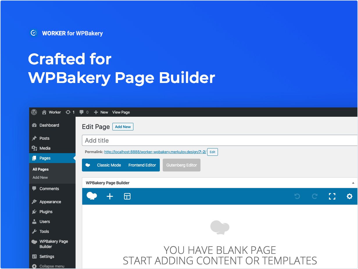 Crafted for WPBakery Page Builder